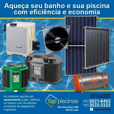 Aquecedores de Piscina Externo Alto de Pinheiros - Aquecedor de Piscina Solar