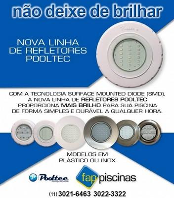 Iluminação Pooltec para Piscina Praça da Arvore - Refletores Uberlicht para Piscina