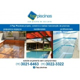 construção de piscina sob medida Ipiranga