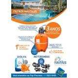 filtros de piscinas nautilus Jardim Anália Franco