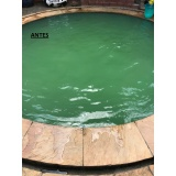 limpeza de piscina água verde preço Santana