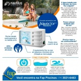 tratamento de água de piscina automatizado Perus