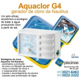 tratamentos de água de piscina gerador de cloro Alto de Pinheiros