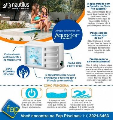 Tratamento de água de Piscina Automatizado Butantã - Tratamento de água de Piscina Gerador de Cloro